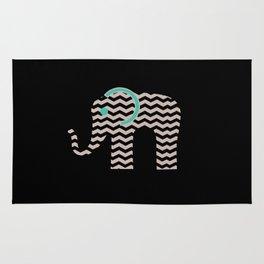 Teal Chevron Elephant Rug