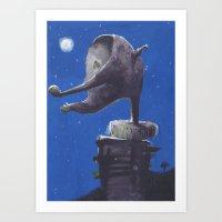 Moondo Art Print