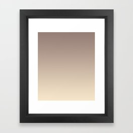 Gradient  beige, brown. Framed Art Print