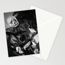 Clown Sitting Creepy Stationery Cards