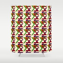 TYPOGRAPHY SIZE S Shower Curtain