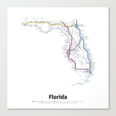 Highways of the USA – Florida Canvas Print