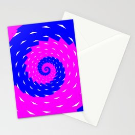 rotation spiral Stationery Cards