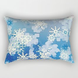Snowflakes Rectangular Pillow