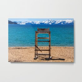 Winter in Sand Harbor. Lake Tahoe. Nevada State Park. USA Metal Print