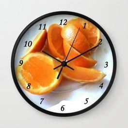 Orange Quarters Wall Clock