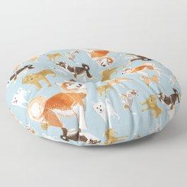 Japanese dogs Floor Pillow