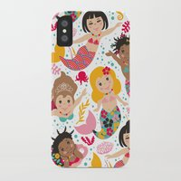 mermaids iPhone & iPod Cases featuring Mermaids by Helene Michau