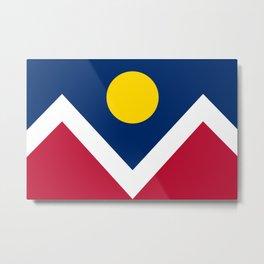 Denver City Flag - Authentic High Quality Metal Print