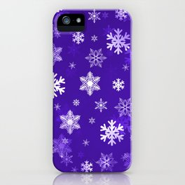 Light Purple Snowflakes iPhone Case