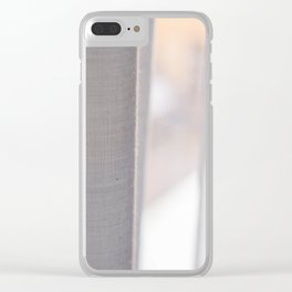 White curtains Clear iPhone Case