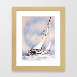 Sydney  to Hobart  Yacht Race        by Kay Lipton Framed Art Print