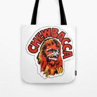 chewbacca Tote Bags featuring Chewbacca by Popp Art