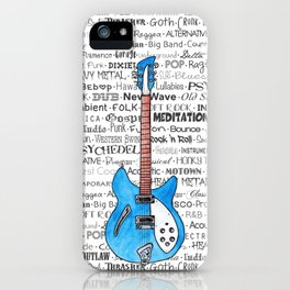 Music for the Soul & Spirit - Blue Series iPhone Case