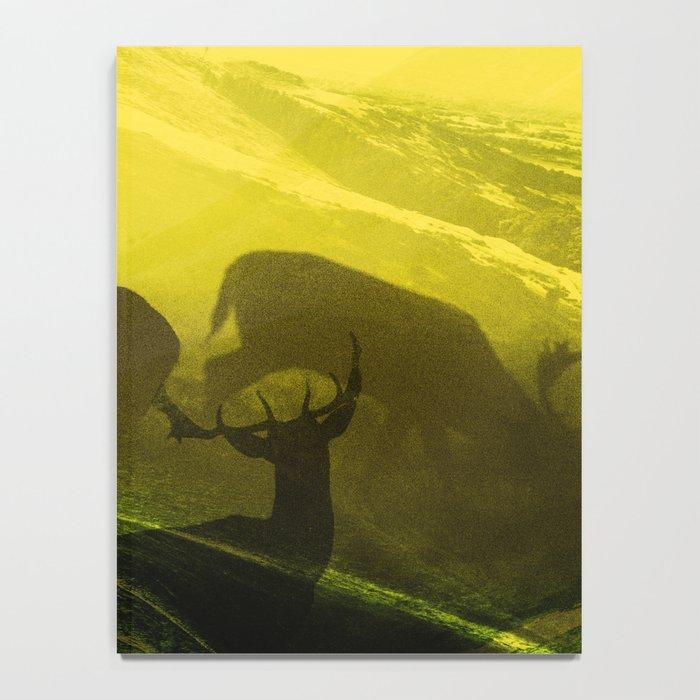 Oh Deer Complex Green Notebook