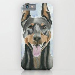 Doberman Watercolor Painting iPhone Case