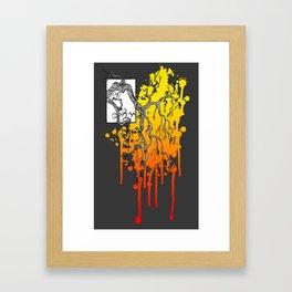 Liquid Autumn Leaves (Dark) Framed Art Print