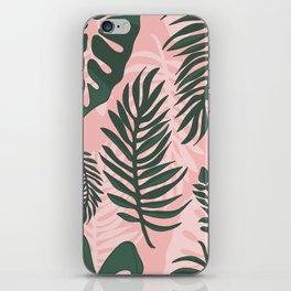 Jungle leaves pattern iPhone Skin