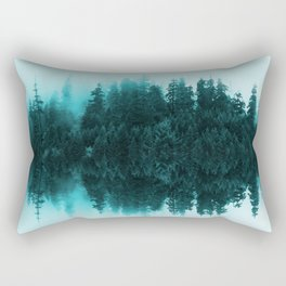 Cloudy Forest Rectangular Pillow