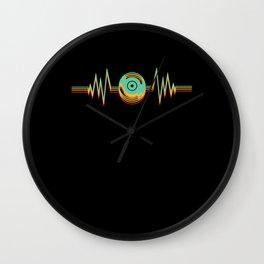 Heartbeat Disk Vinyl Music Nightclub EDM Wall Clock