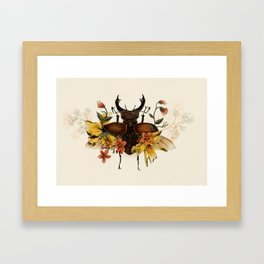 Blooming Beetle Framed Art Print