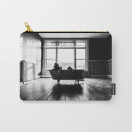 Relax in Black and White Carry-All Pouch