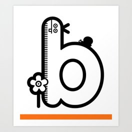 ABC: B Art Print