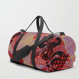 On Fire Kona Tropical Floral Duffle Bag