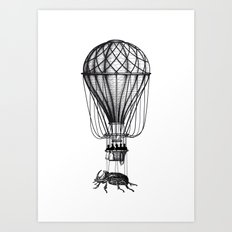 Discovery (black on white) Art Print