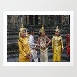 Cambodian children dressed in Traditional Sampot Art Print