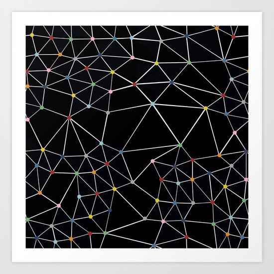 Seg with Color Spots Art Print