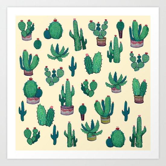 Cactus !! green Art Print