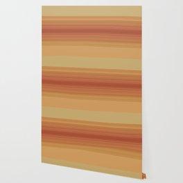 Orange Sunset Stripe Design Wallpaper