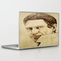 steve mcqueen Laptop & iPad Skins featuring Steve McQueen by Farinaz K.