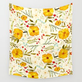 SUNSHINE FLORAL Wall Tapestry