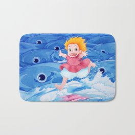 Ponyo Runs on Water with the Big Fishes Bath Mat