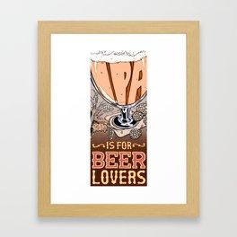 Love Letter to IPA Framed Art Print