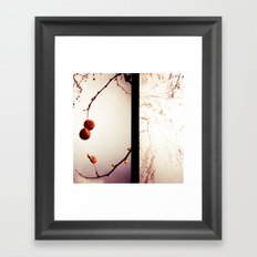 Tree and Clouds Lomography Framed Art Print