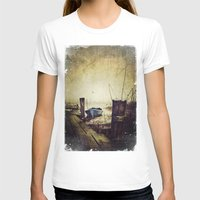 rowing T-shirts featuring Rugged fisherman by HappyMelvin