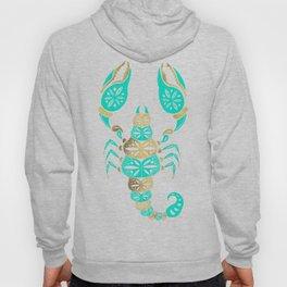 Scorpion – Turquoise & Gold Hoody