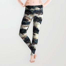 Seamless distressed glitch blur woven.  Leggings