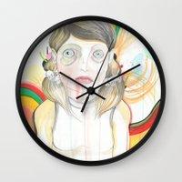 zombie Wall Clocks featuring Zombie by Raül Vázquez