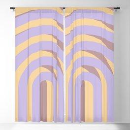 Lavender `Rainbow Arches Blackout Curtain