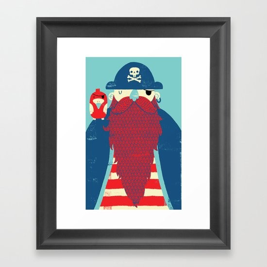 Old Captain Redbeard Framed Art Print