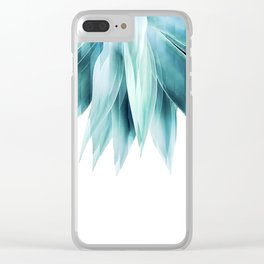 Agave geo fringe - teal Clear iPhone Case