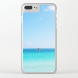 70. Lonely boat, Cuba Clear iPhone Case