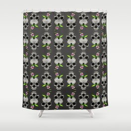 The Inevitable Cycle Pattern Shower Curtain