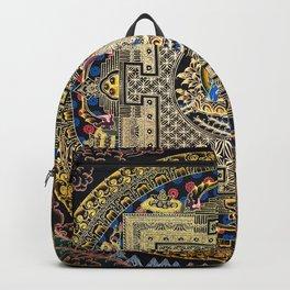 Rose Gold Buddha Thangka Mandala Backpack