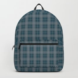 Christmas Winter Night Blue Tartan Check Plaid Backpack