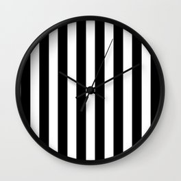 Classic Black and White Football / Soccer Referee Stripes Wall Clock